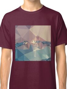 Opera Mauve Abstract Low Polygon Background Classic T-Shirt