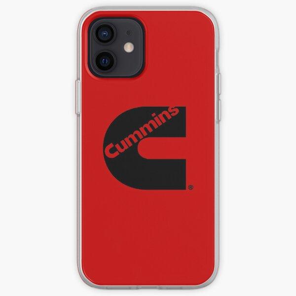 Logotipo de camión Cummins negro Funda blanda para iPhone