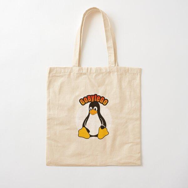 Tux GoByteGo dot Cotton Tote Bag