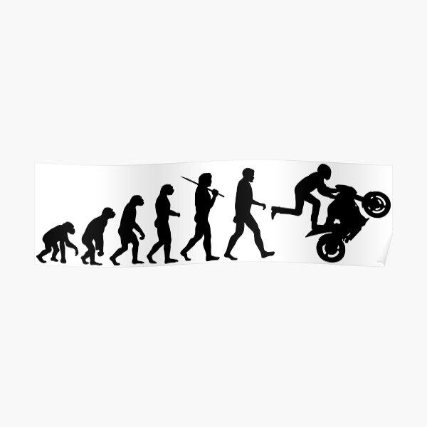Motorcycle Wheelie Poster