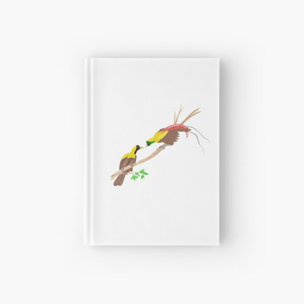Red Bird of Paradise Couple Hardcover Journal