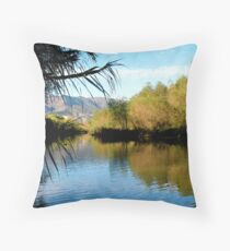 Verde River Autumn by Bradley Blalock Throw Pillow