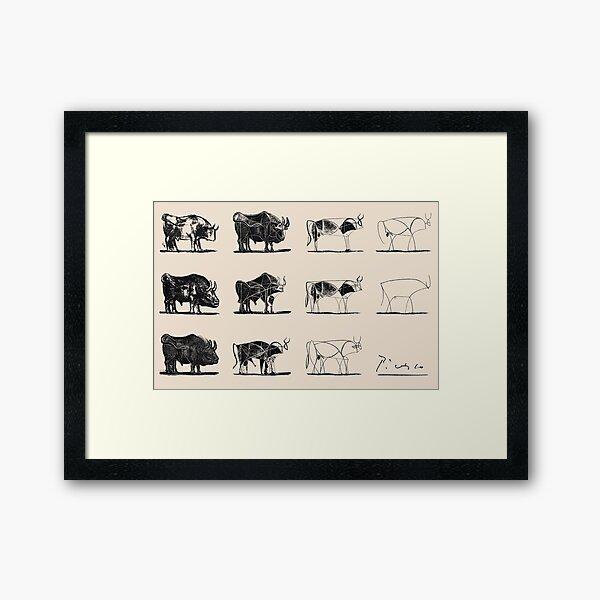 Picasso Bulls Poster Framed Art Print