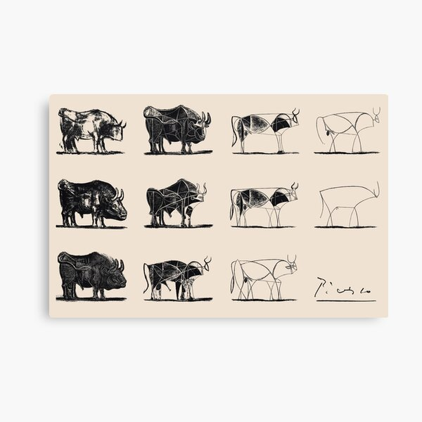 Picasso Bulls Poster Canvas Print