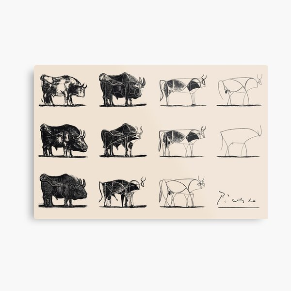 Picasso Bulls Poster Metal Print