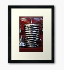 Old Fire Truck Grille Framed Print