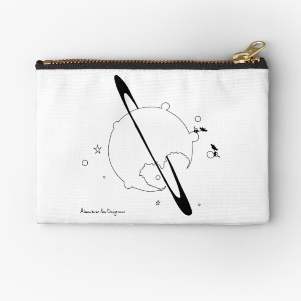 Cows on Saturn Partly Munched in Heart Shape Zipper Pouch