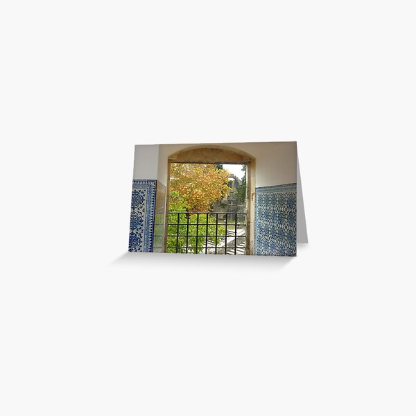 A view through a Castle window! Greeting Card