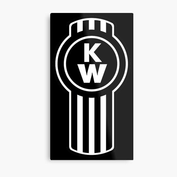 Kenworth Truck logo Black Metal Print