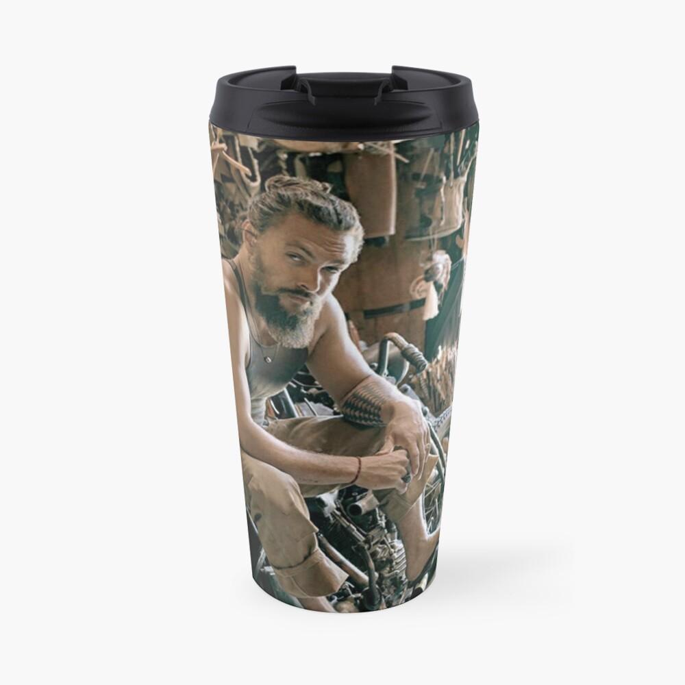 Jason Momoa motocycle Travel Mug