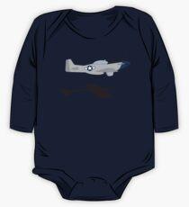 "P-51 Mustang ""Scramble Takeoff"" #2 One Piece - Long Sleeve"