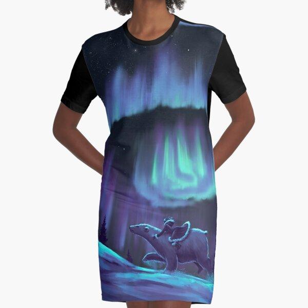 His Dark Materials - Fan Art Graphic T-Shirt Dress