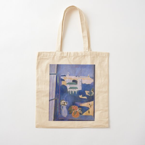 LANDSCAPE VIEWED FROM A WINDOW IN TANGIER - HENRI MATISSE  Cotton Tote Bag