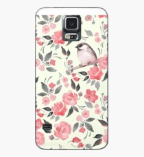 Watercolor floral background with cute bird /2 Case/Skin for Samsung Galaxy