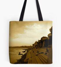 Varanasi Sepia Tote Bag