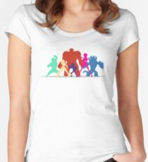 Big Hero 6 Silhouettes  Women's Fitted Scoop T-Shirt