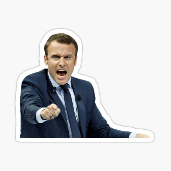 Macron en Mode super trop méchant! Sticker