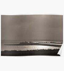 Light and fog at Lake Grevelingen Poster