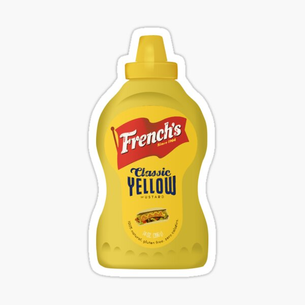 French's Iconic Classic Yellow Mustard Bottle Sticker