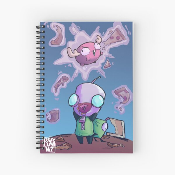 Pizza time with Gir Spiral Notebook