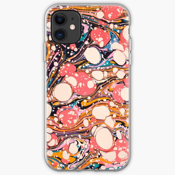 Psychedelic Retro Marbled Paper Pepe Psyche iPhone Soft Case