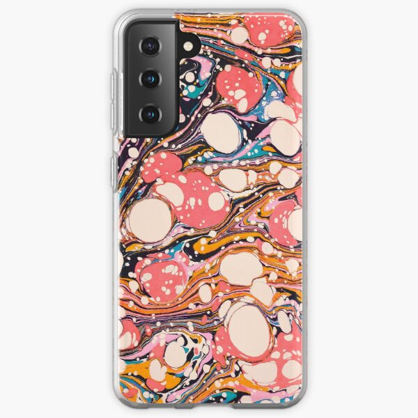 Psychedelic Retro Marbled Paper Pepe Psyche Samsung Galaxy Soft Case