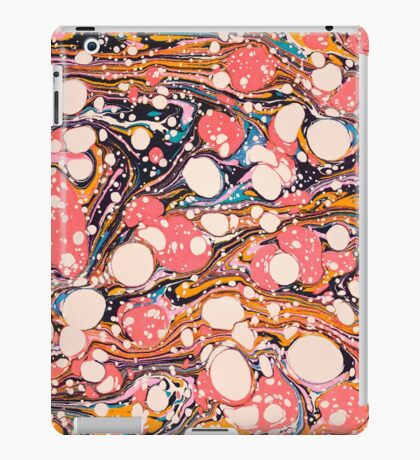 Psychedelic Retro Marbled Paper iPad Case/Skin