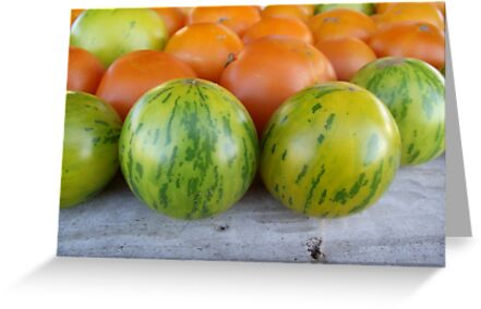 Green Zebra Tomatoes by Kimberly Morales