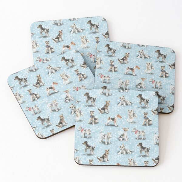 Winter Fox Terriers Coasters (Set of 4)