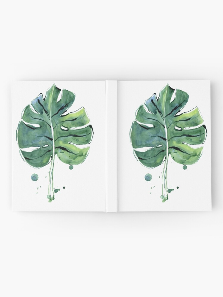 Alternate view of Monstera leaf Hardcover Journal