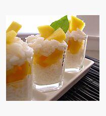 Sticky Rice & Mango Shots Photographic Print
