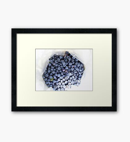 Bucket o' Blues Framed Print
