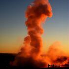 Geysir by Sunset by Ritva Ikonen
