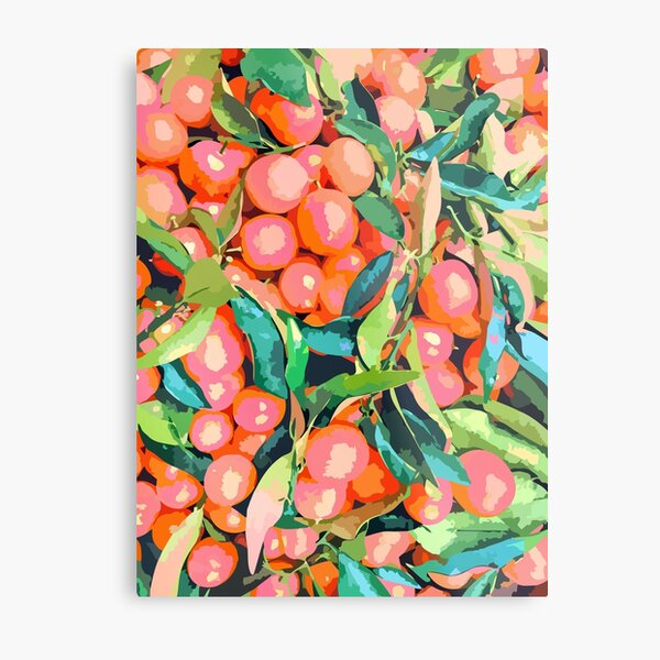 Fruit Garden #painting #digitalart #nature Metal Print