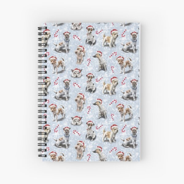The Christmas Jack Russell Terrier  Spiral Notebook