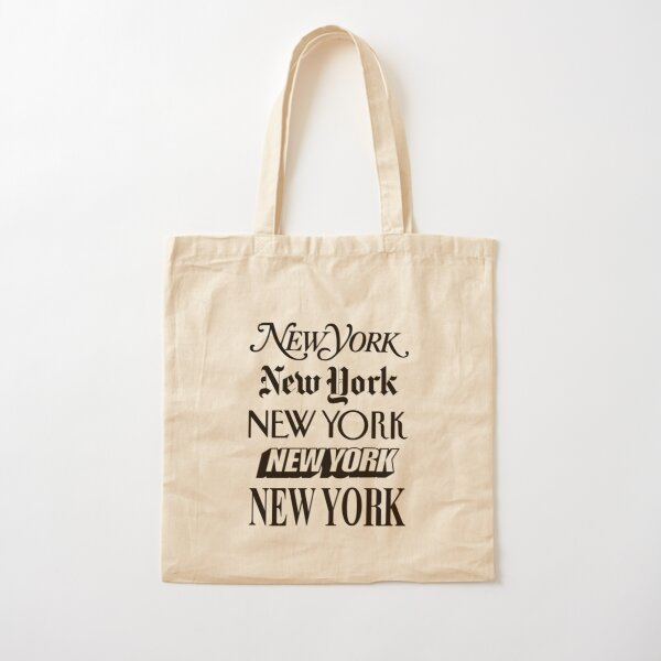 New York New York Cotton Tote Bag