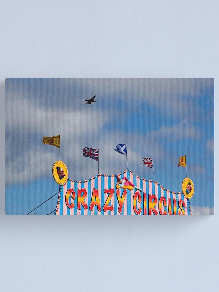 Alternate view of Crazy Circus Canvas Print