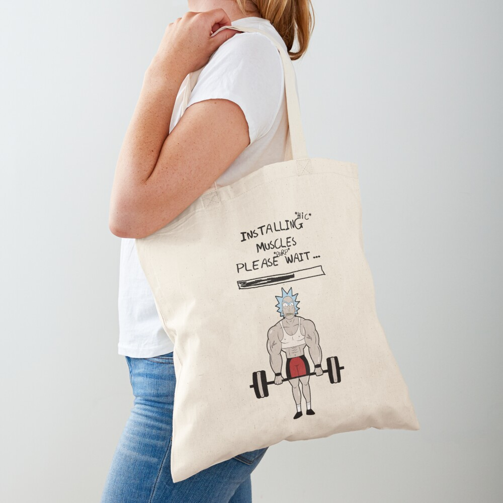 Rick and Morty. Installing muscles. Tote Bag