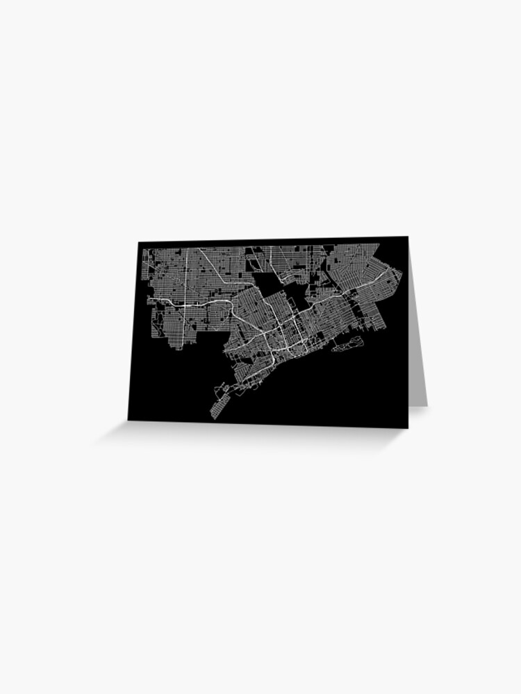 Detroit, Michigan, USA Street Network Map Graphic | Greeting Card