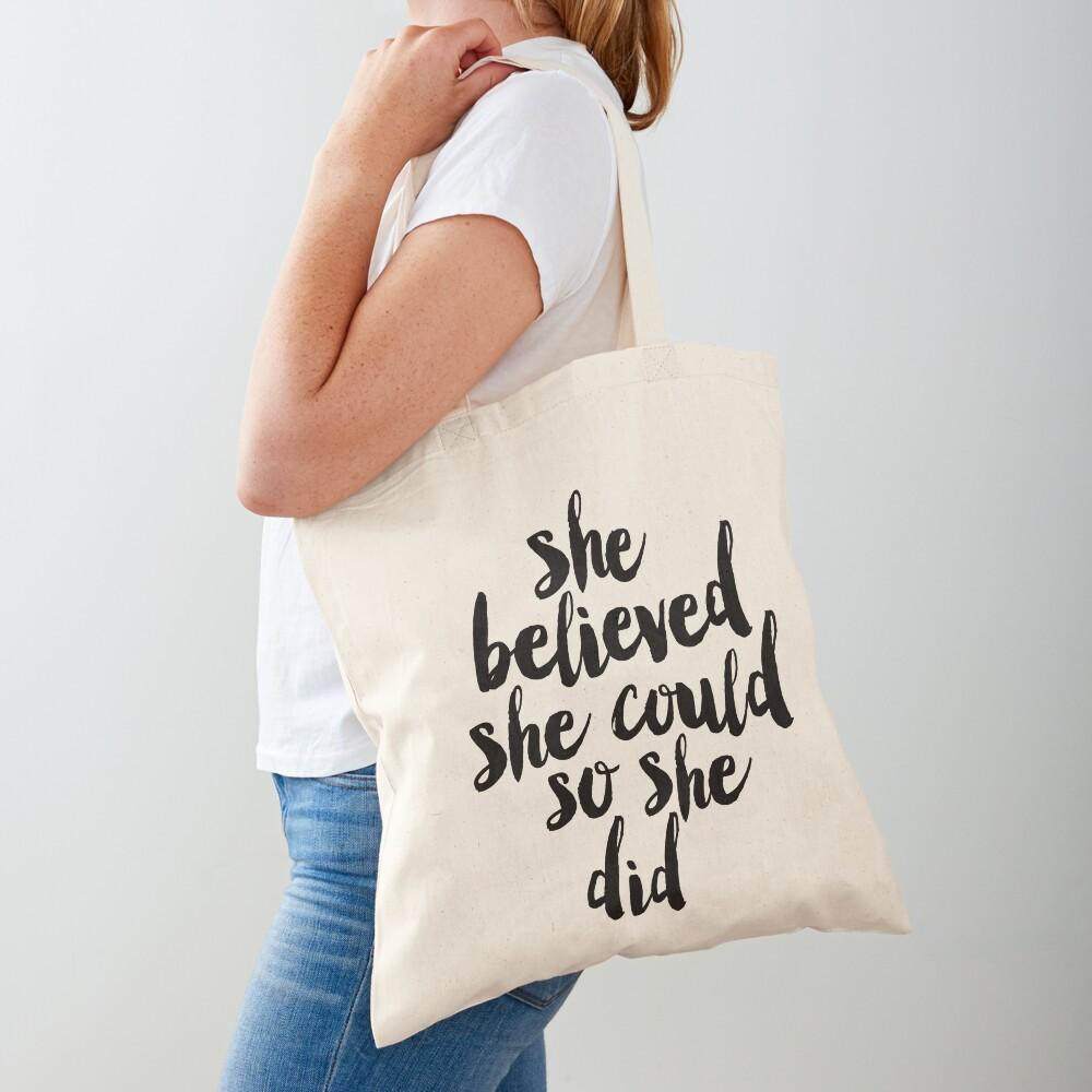 Sie glaubte, sie könnte so tat sie Stofftasche