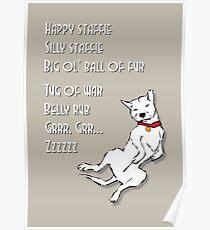 Happy Staffie Silly Staffie Poster