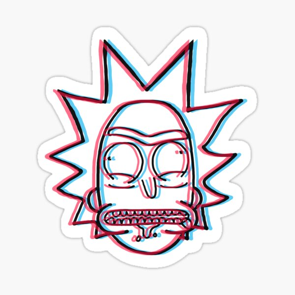 3d Rick Sanchez from Rick and Morty™ Sticker