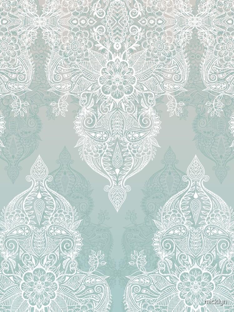 Encaje y sombras - garabato marroquí gris sabio y blanco suave de micklyn