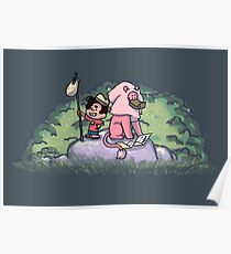 Steven und Löwe Poster