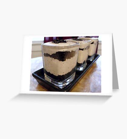 Cookies & Creme Dessert Shots Greeting Card