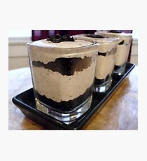 Cookies & Creme Dessert Shots Photographic Print