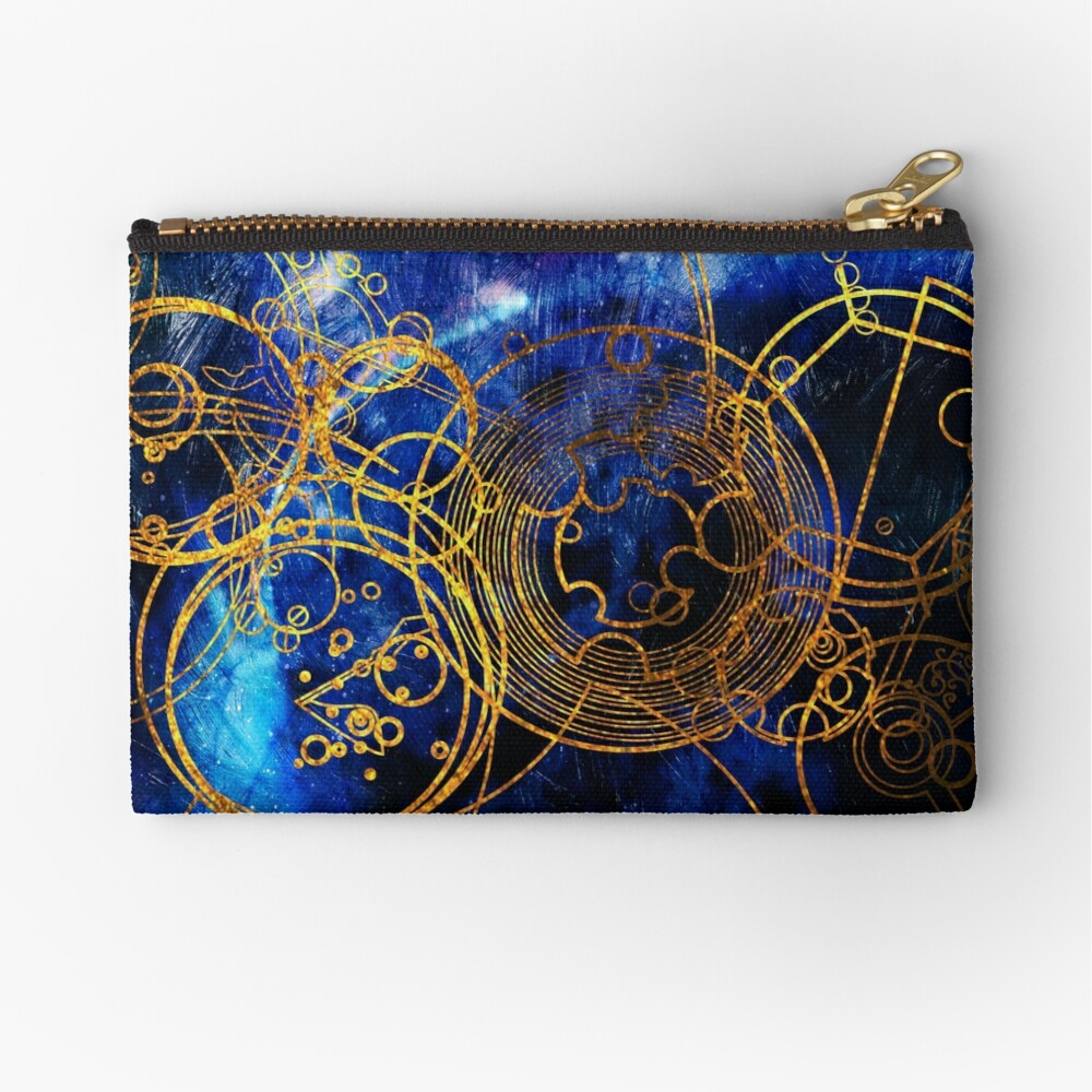 Time Lord Writing (blue) Zipper Pouch