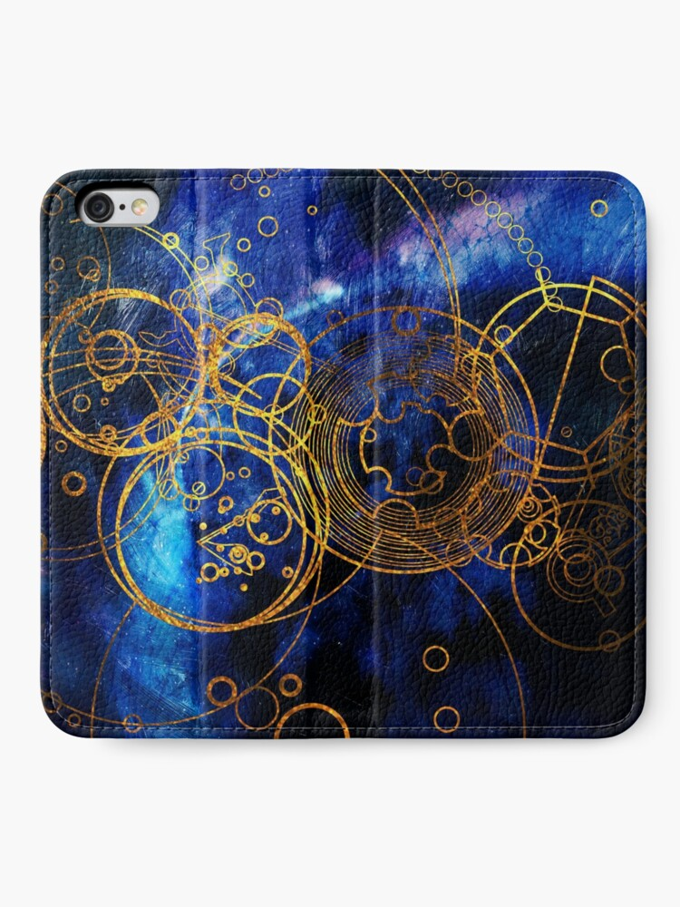 Alternate view of Time Lord Writing (blue) iPhone Wallet