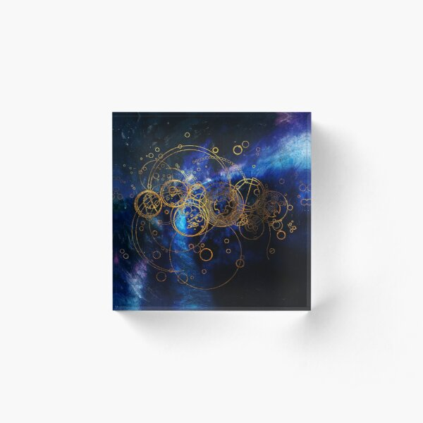 Time Lord Writing (blue) Acrylic Block
