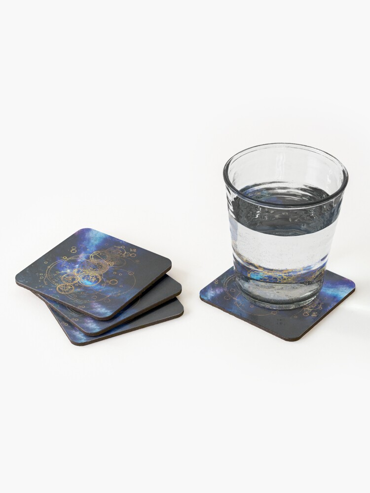 Alternate view of Time Lord Writing (blue) Coasters (Set of 4)